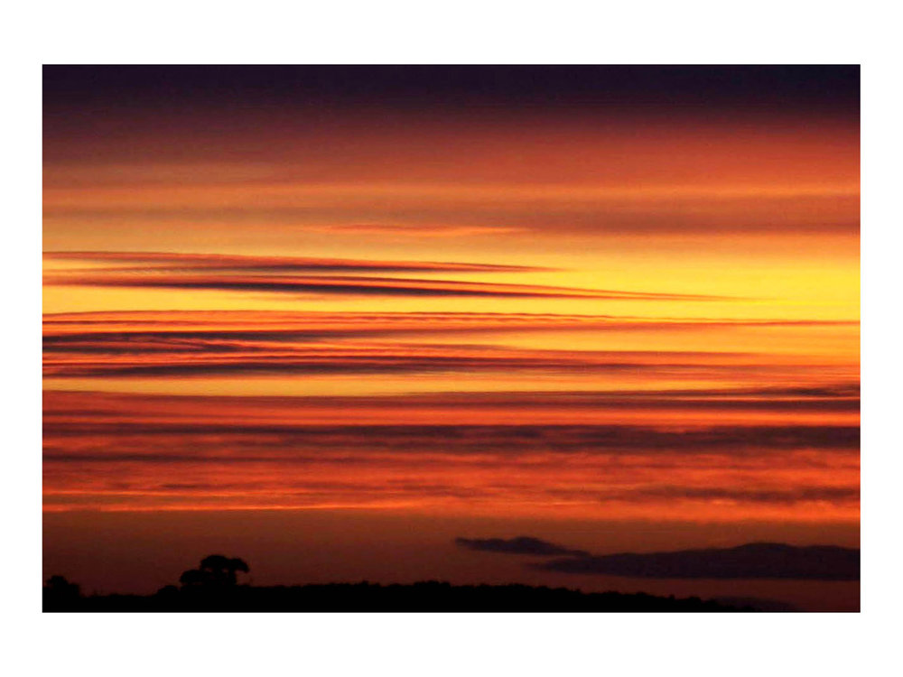 The Sun Setting  (Buckinghamshire, England, circa 2004) by Johnny Green (43 x 53cm)  Price: £250   Size: 16.9 H x 20.9 W x 1.7 in   This is the 1st of 21 Limited Edition C-type Lambda prints, encased in a beautiful, black wooden frame. The matt photograph has an elegant off white mount which is signed and numbered by the artist.