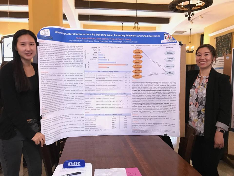 Seoho and Emily presenting our poster at the conference.