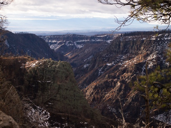 Canyon in the dome wilderness in wintertime