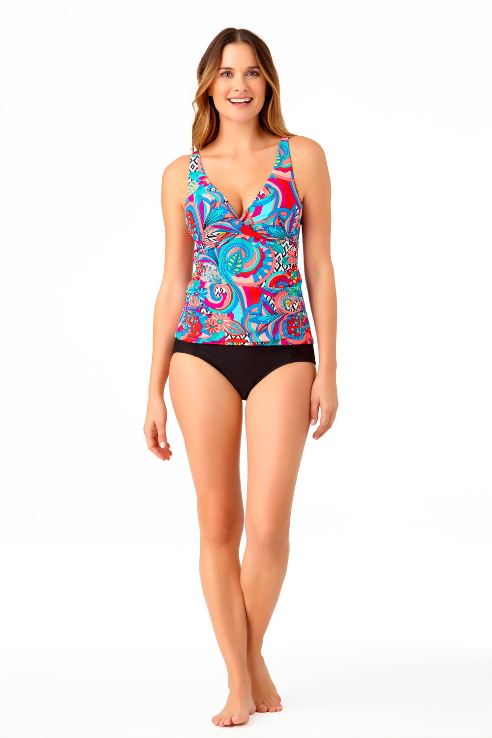 STYLE # CTL27414T / CTL27500B - Copacabana Tankini TopBUY NOW ON WALMARTSolid High Waist BottomBUY NOW ON WALMART