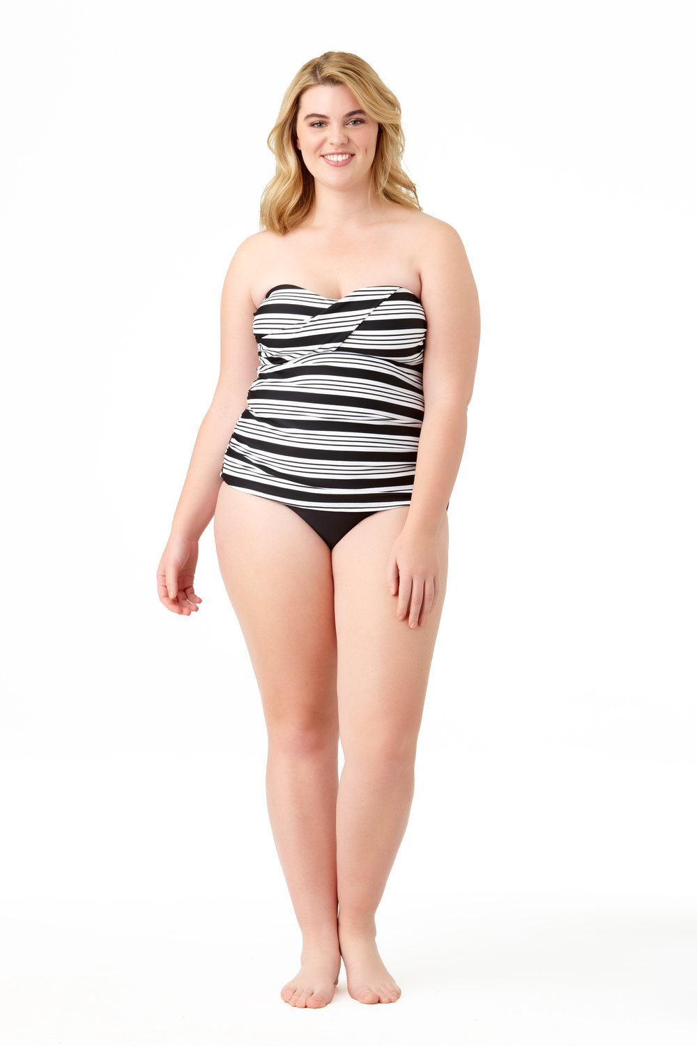 STYLE # CTP27401T / CTP07500B - Melbourne Stripe Twist Bandini BUY NOW FROM WALMARTSolid High Waist BottomBUY NOW FROM WALMART