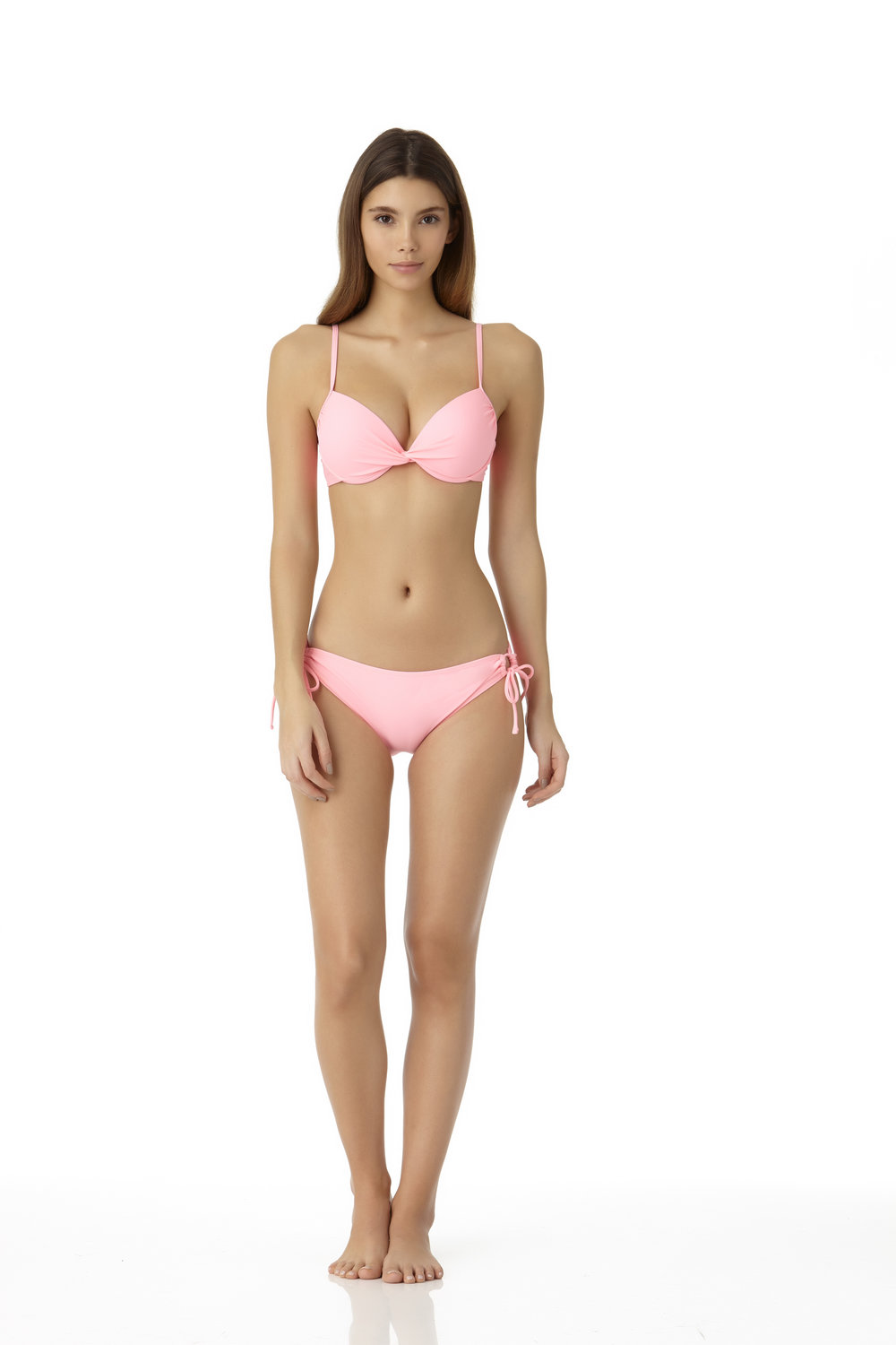 STYLE # CBC07342T/ CBC077510B - Twist Front Underwire Bikini TopCOMING SOON TO WALMARTSide Tie Scoop BottomCOMING SOON TO WALMART
