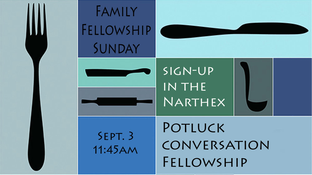 Family Faith Sunday - Sept. 3, 2017