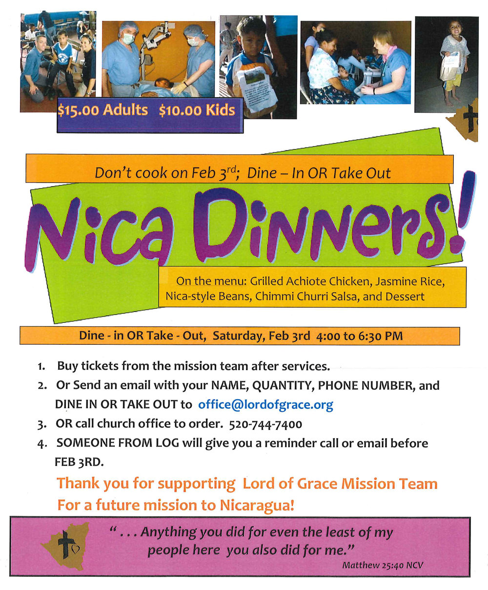 Corner of Love - Nicaraguan Dinner