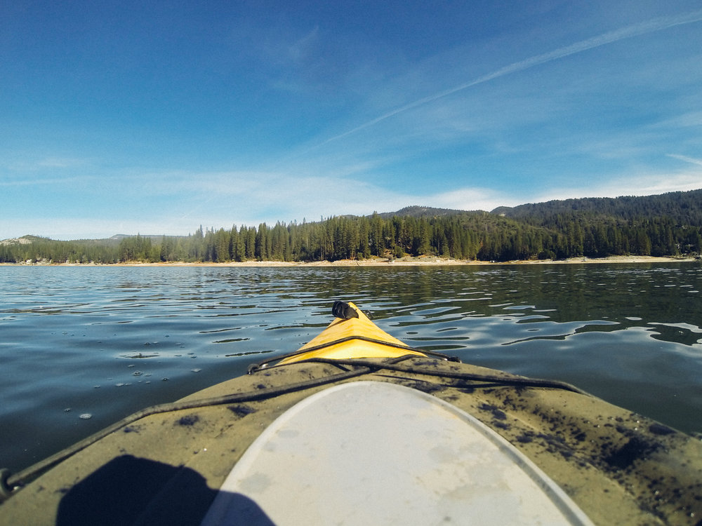 Kayaking at Bass Lake