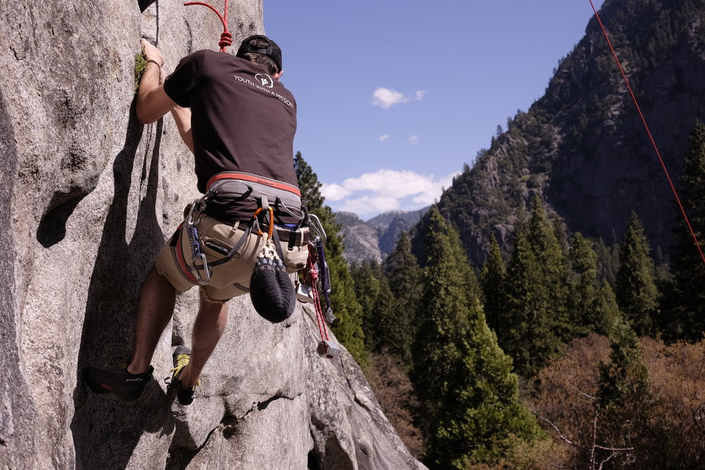 Rock Climbing in Yosemite Valley at Swan Slab