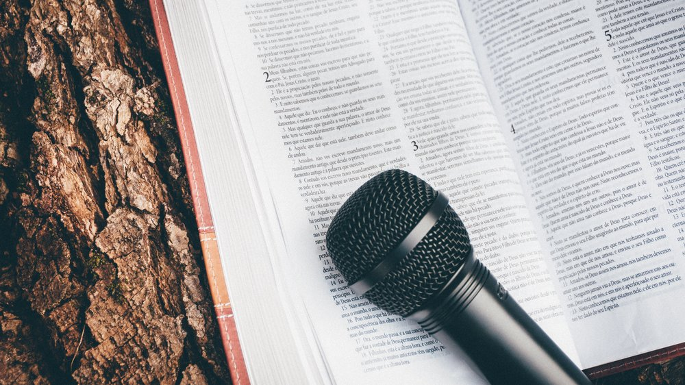 - Pick up the Bible... before picking up the microphone.
