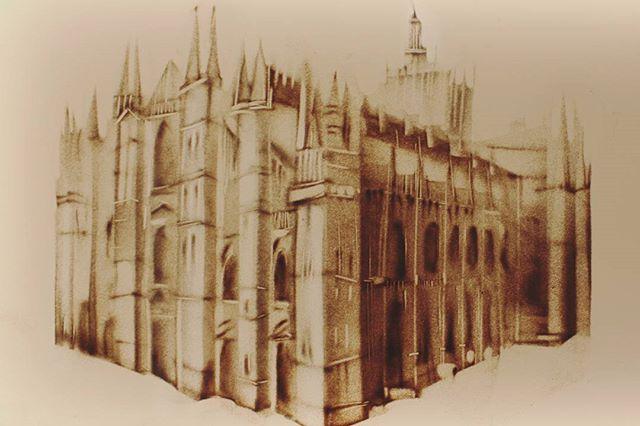 Duomo di Milano👐 #milano #sandmalerei #sandshow #sandartist #art #show #performance #art #gala #irinatitova #sandart #sand #gala #kunst #duomo #duomodimilano