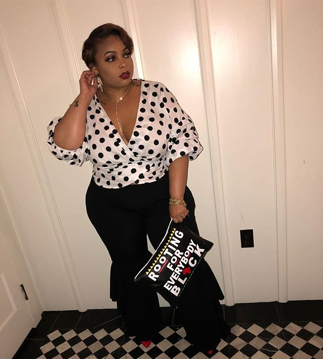 Our founder @hausovthickness was spotted in North Carolina for @crusadeofcurves rocking her @shopraw handbag. - You too can be rocking this same purse or something else like it by visiting @shopraw and using Brittany20 for a percentage off your bag 💁🏽‍♀️
