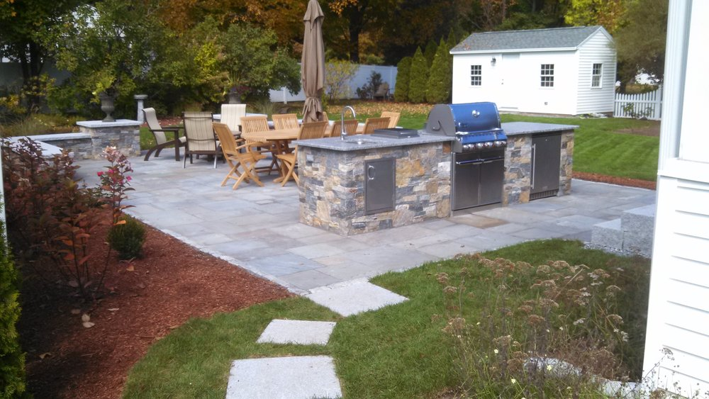 Best paver patios with an outdoor kitchen inWestford, MA