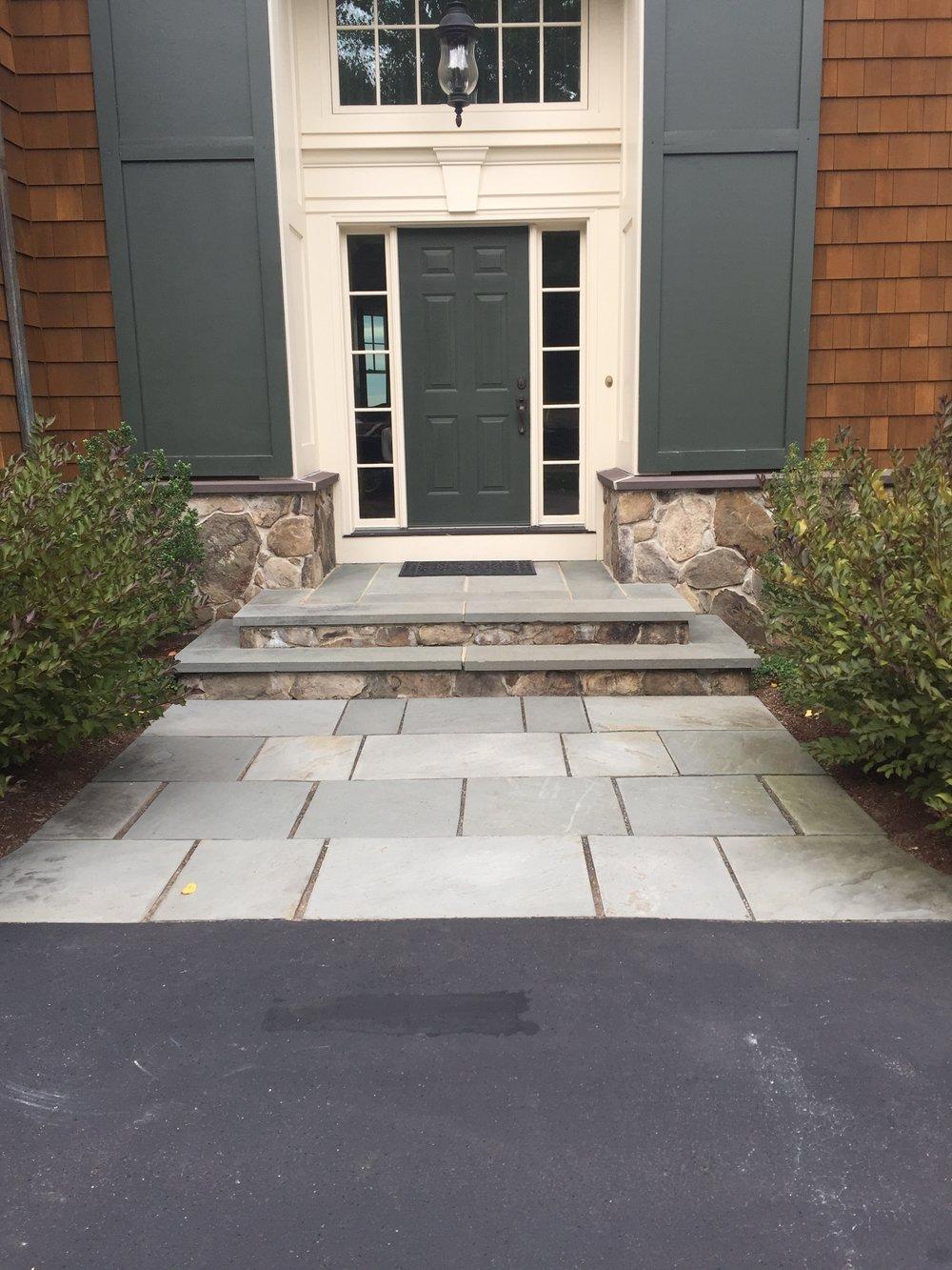 Professional front entrance paver walkways inLexington, MA