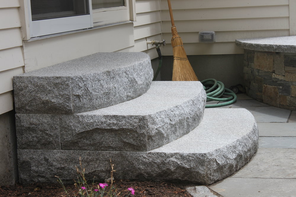 Top landscape design with steps in Laconia, NH