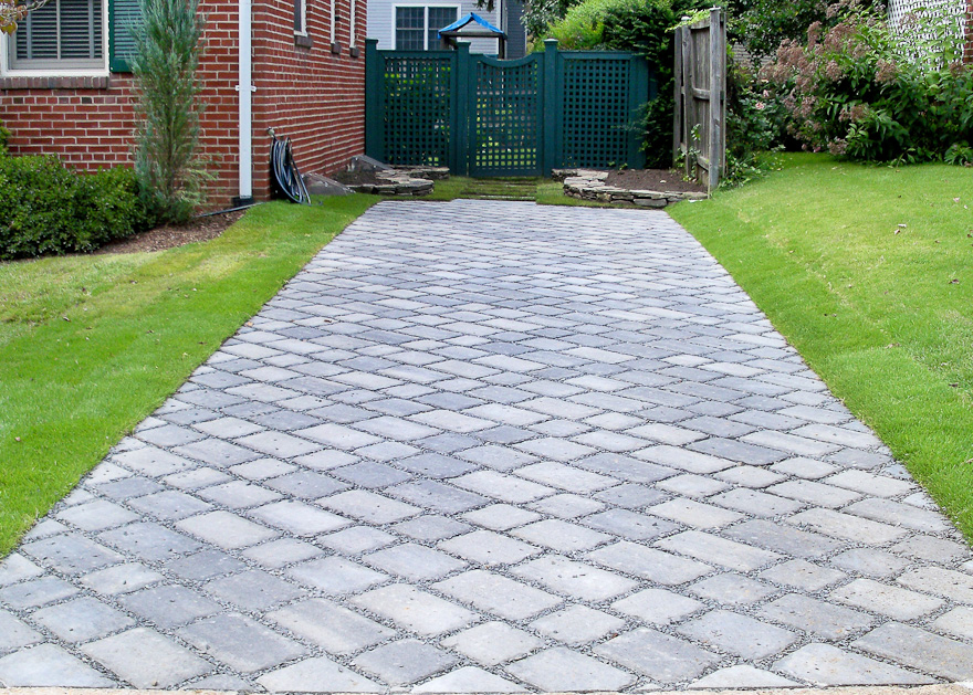 Expert landscape design with paver walkways & patios  in Newton, MA