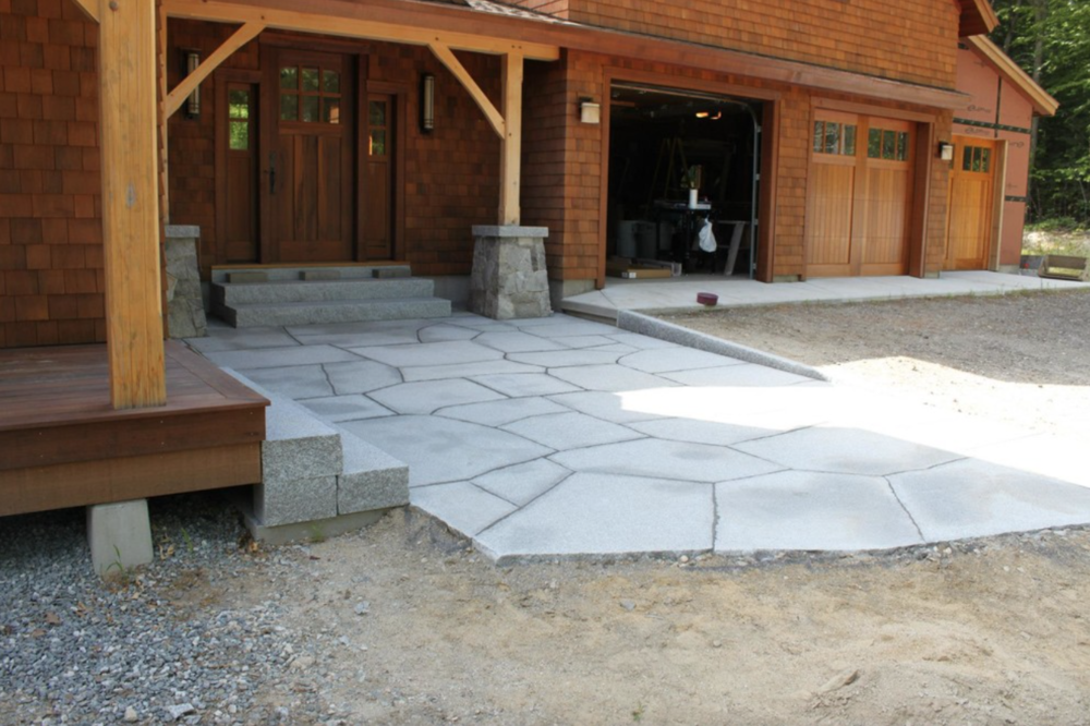 Paver patio landscape design in Hollis, NH