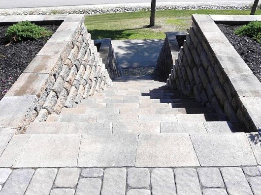 Masonry in Concord, NH with stunning paver walkway