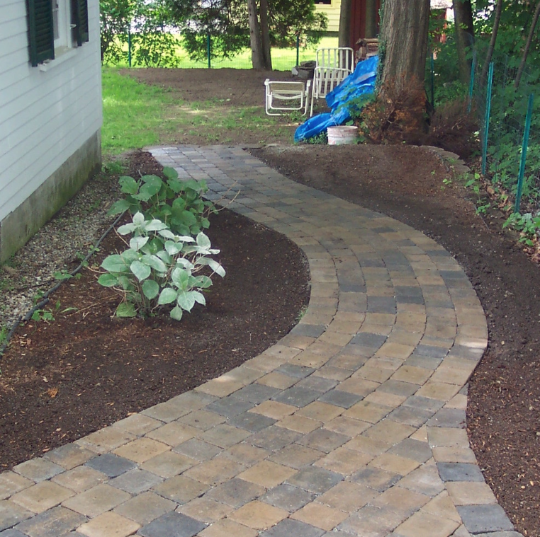 Paver walkway by landscaper in Laconia, NH