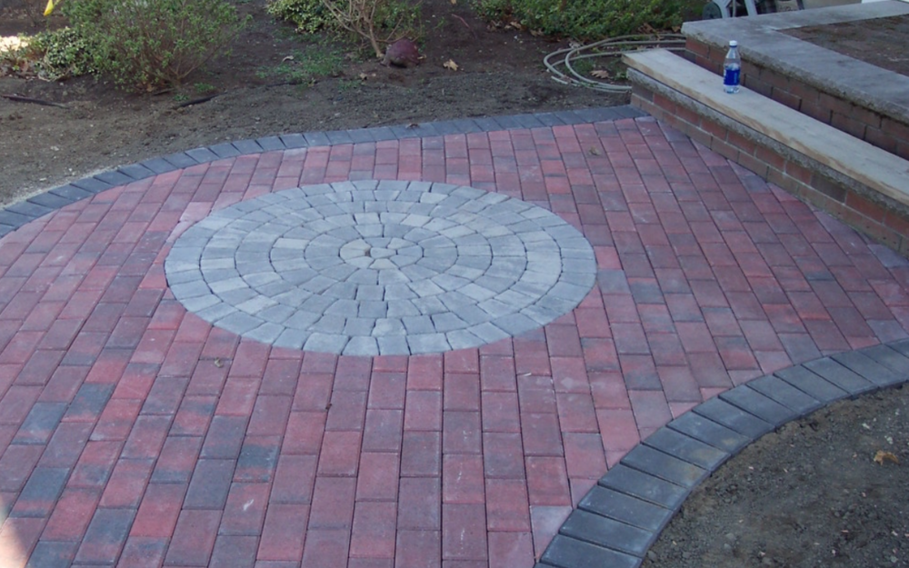 Stuning paver walkway landscape design and installation in Milford, NH