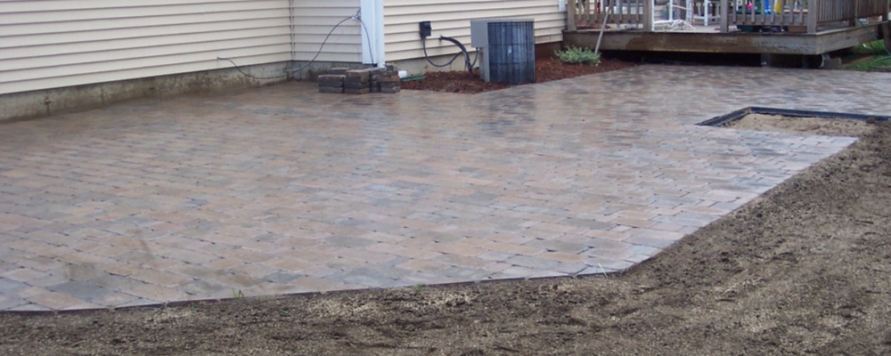Top paver patio installed by landscaper in Laconia, NH