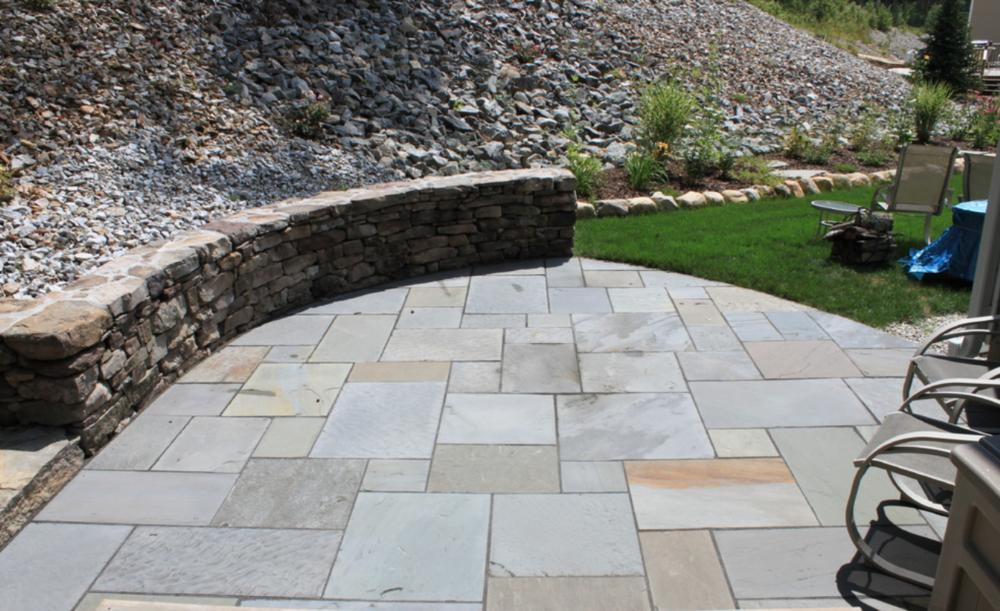 Paver patio landscape design in Newton, MA