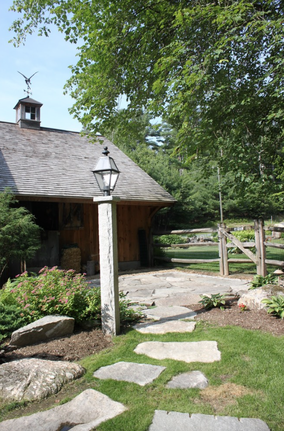 Outdoor lighting by certified landscaper in Westford, NH