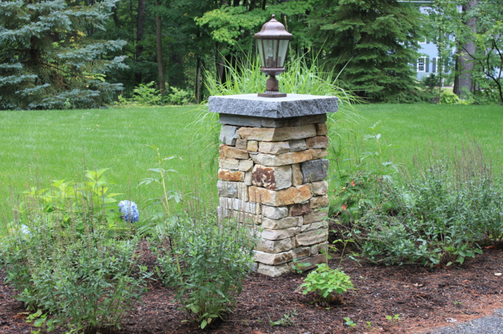 Outdoor lighting and masonry in Amherst, NH