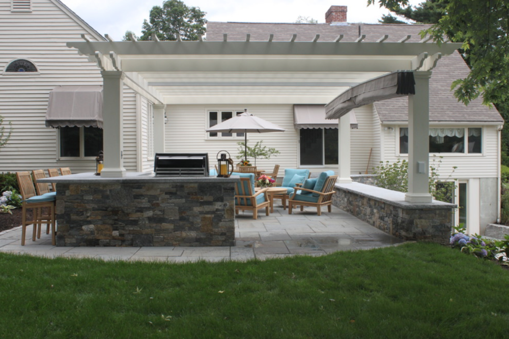 Outdoor Masonry Fireplace in Hollis, NH