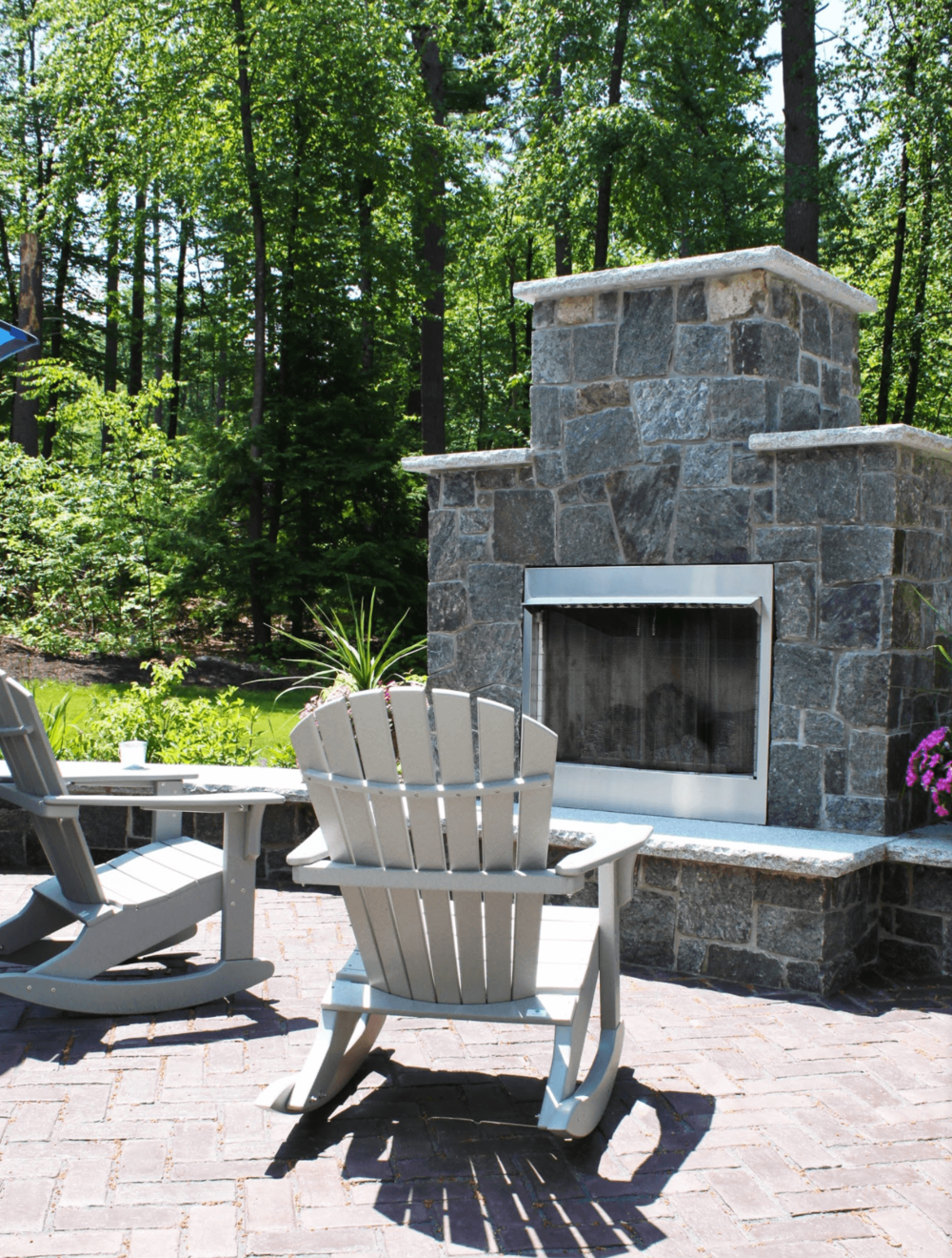 Outdoor fireplace in Milford, NH