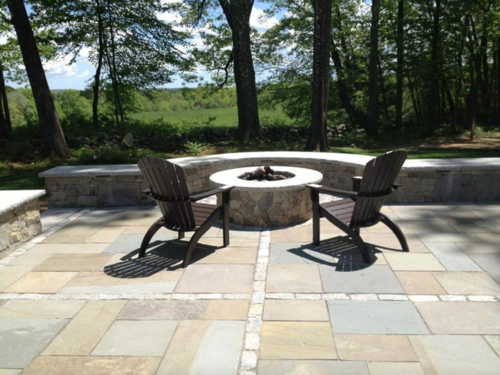 Landscaping in Hollis NH - Unilock authorized landscaper with top outdoor masonry fireplaces