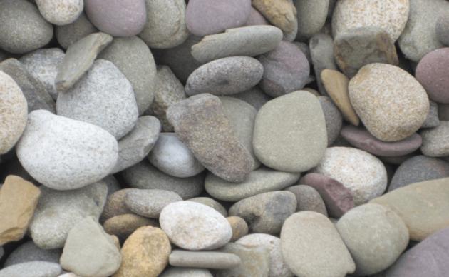 Natural Round Stone - $60/yard