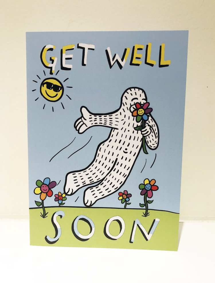 get well greeting card w envelope - Get Well Greeting Cards