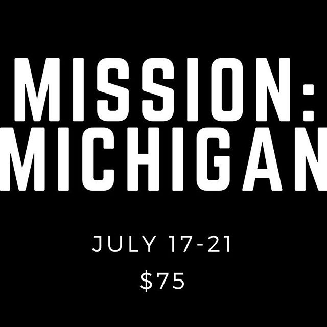 Have you heard of this yet?  No?? Then get yourself to youth group! This has the potential to change. Your. Life.  Registration begins May 6. #missionmichigan #mission1334
