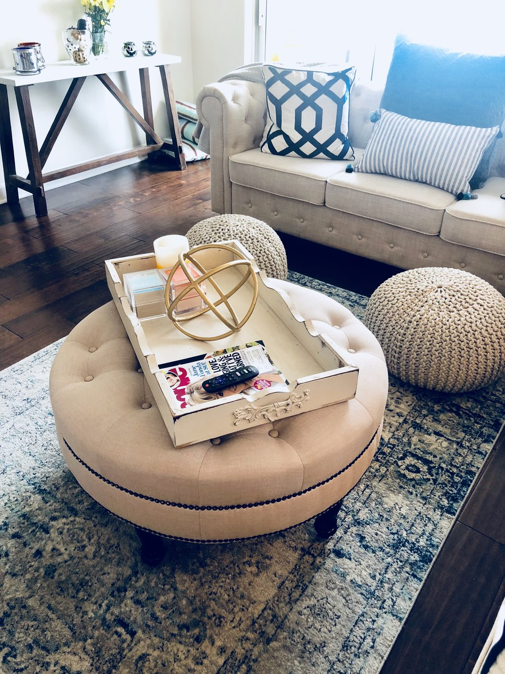 Loving our cozy living room - thanks to Wayfair