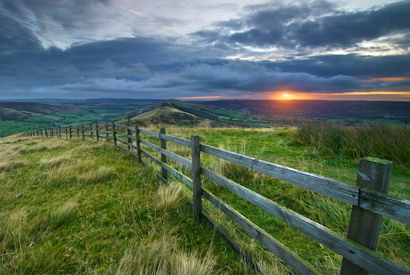 Sunrise from Mam Tor
