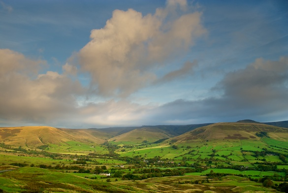 Edale Valley at sunrise