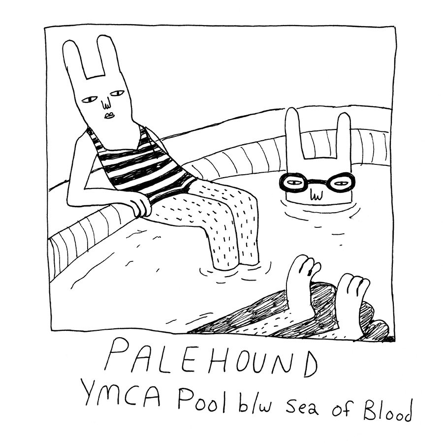 "This is the cover of our new 7-inch,   YMCA Pool  . Check out a sneak preview of  "" Sea of Blood "" .  ""I've had these songs lying around forever and could never really find a place for them on a record,"" says Ellen, who wrote ""Sea of Blood"" when she was 17. ""After we toured with   Bully   2 summers ago, Alicia Bognanno offered to record some stuff  for me at her house in Nashville, which seemed like a great opportunity. We spent two days hiding from the heat in her house recording... and also at Dave and Buster's. My friend Sami Martasian did the cover art.""  The record will be available on January 26 as part of Saddle Creek's  Document  series, which highlights artists from around the world that they have fallen in love with. You can preorder your own copy  HERE ."