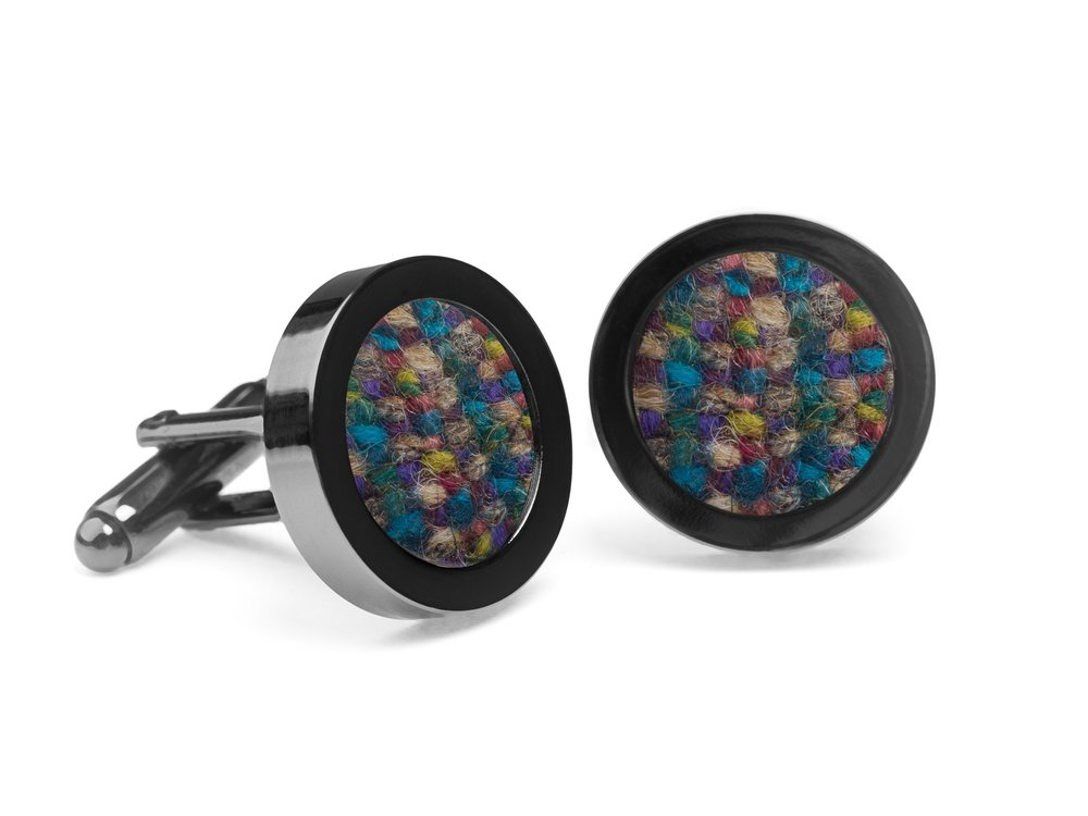 Orwell & Browne Donegal Tweed Cufflinks  - Made in Ireland