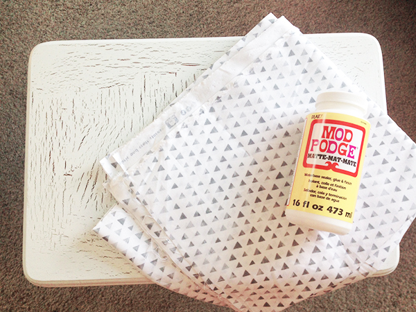 Modge Podge and Fabric