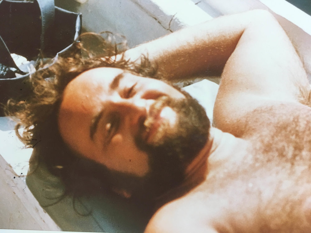 August 1973. On a boat near Rhodes.