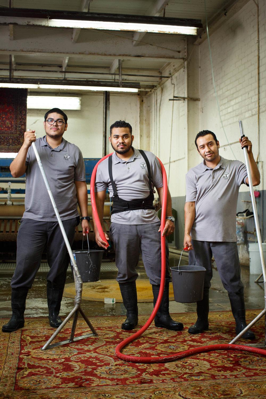 Carlos Picado, Bryan Guerrero & Nestor Gonzalez| Carpet washers -