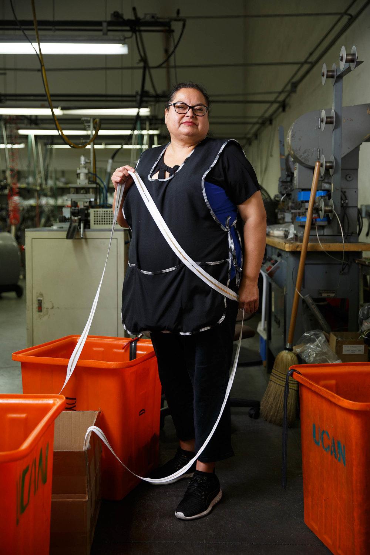 Evangelina Mendez | Zipper machine operator -