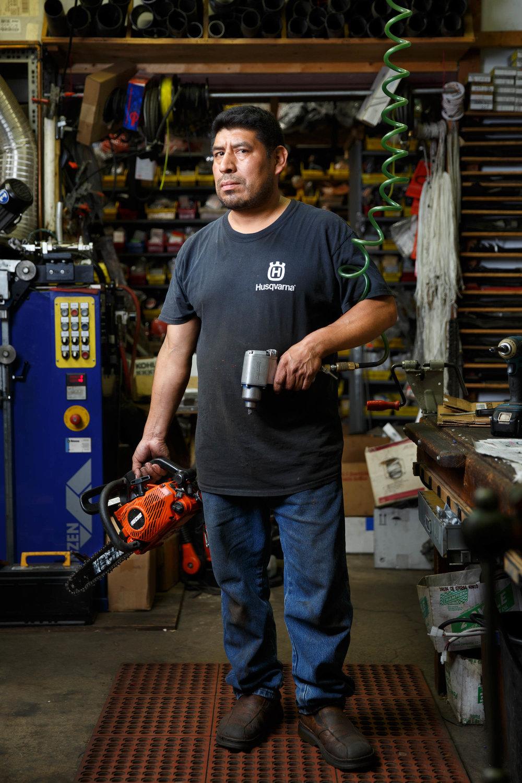 Miguel Pu Ixcotoyac | Outdoor equipment repairman -