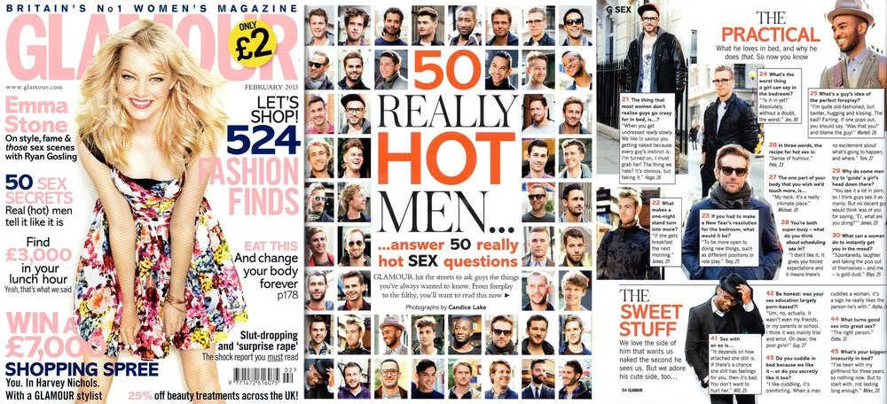 Glamour Magazine: 50 Really Hot Men Article