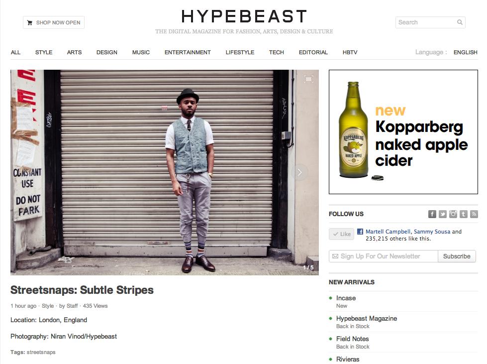Hypebeast: Streetsnaps