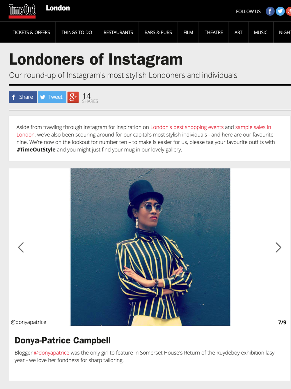 Time Out: Instagram's Most Stylish