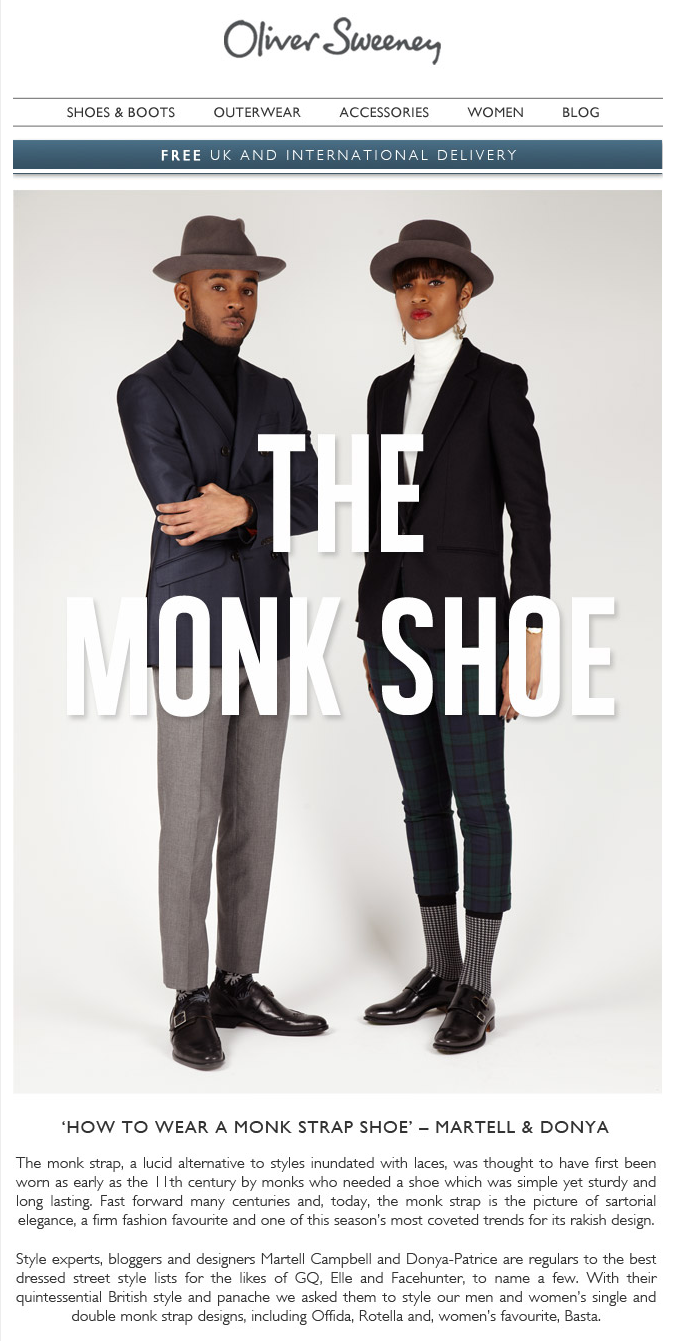 OLIVER SWEENEY MONK SHOE CAMPAIGN