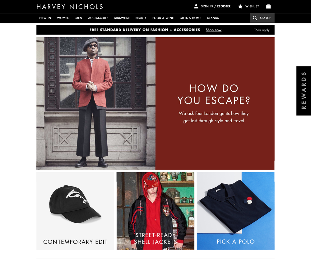 Harvey Nichols Escapism Feature
