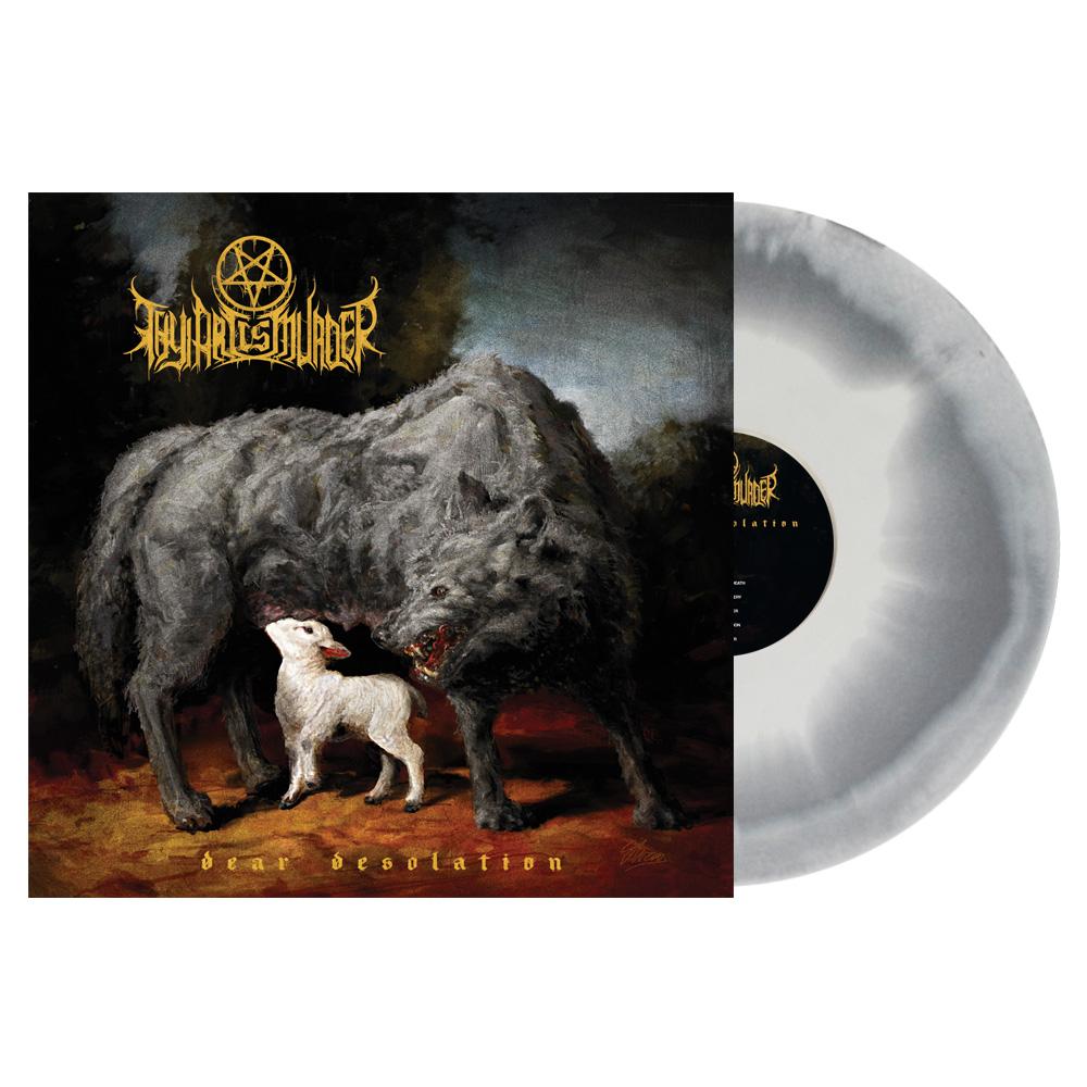 White/Gray Swirl Vinyl