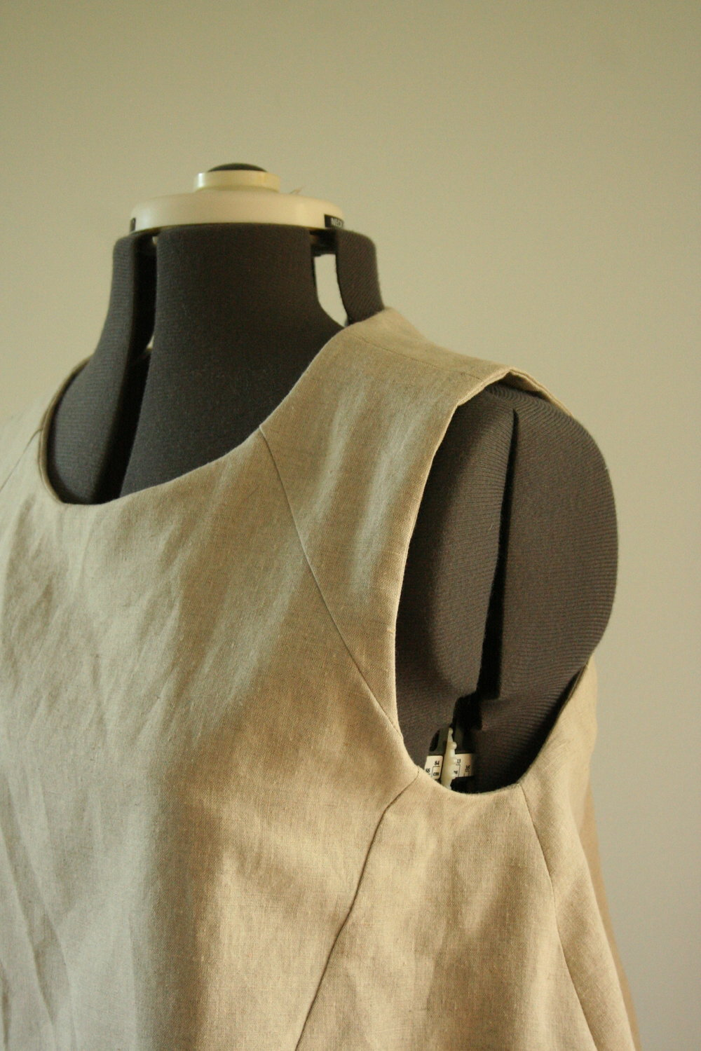 in the folds collins top side view linen