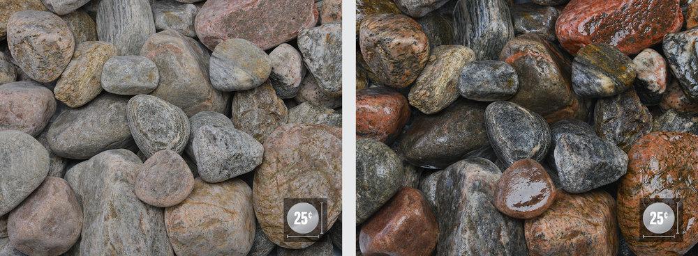 """2"""" - 3"""" (Left: Dry, Right: Wet)"""