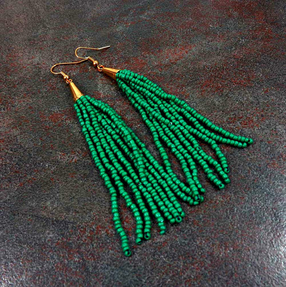 Green Tassel Earrings.jpg